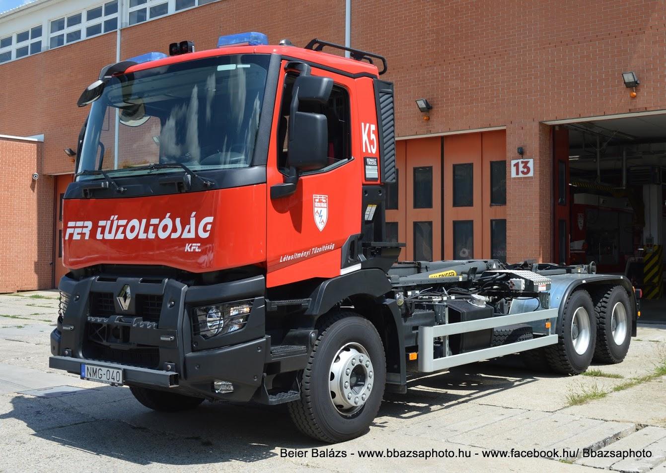 Renault Kerax cserefelépítményes K5 – FER Százhalombatta