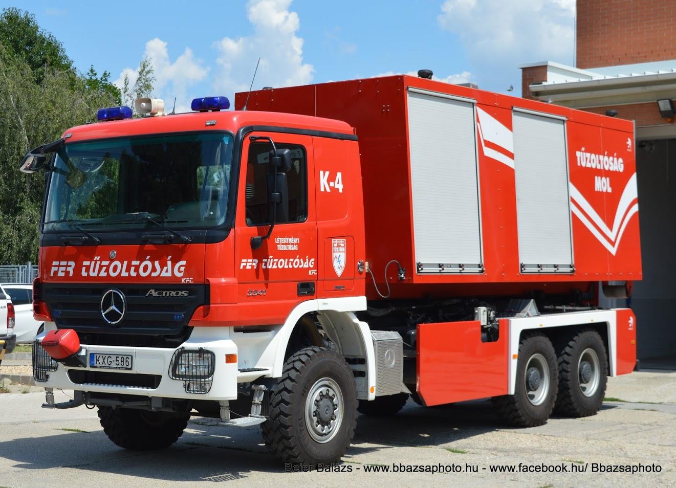 Mercedes Actros 3341 – cserefelépítményes K5 – FER Százhalombatta