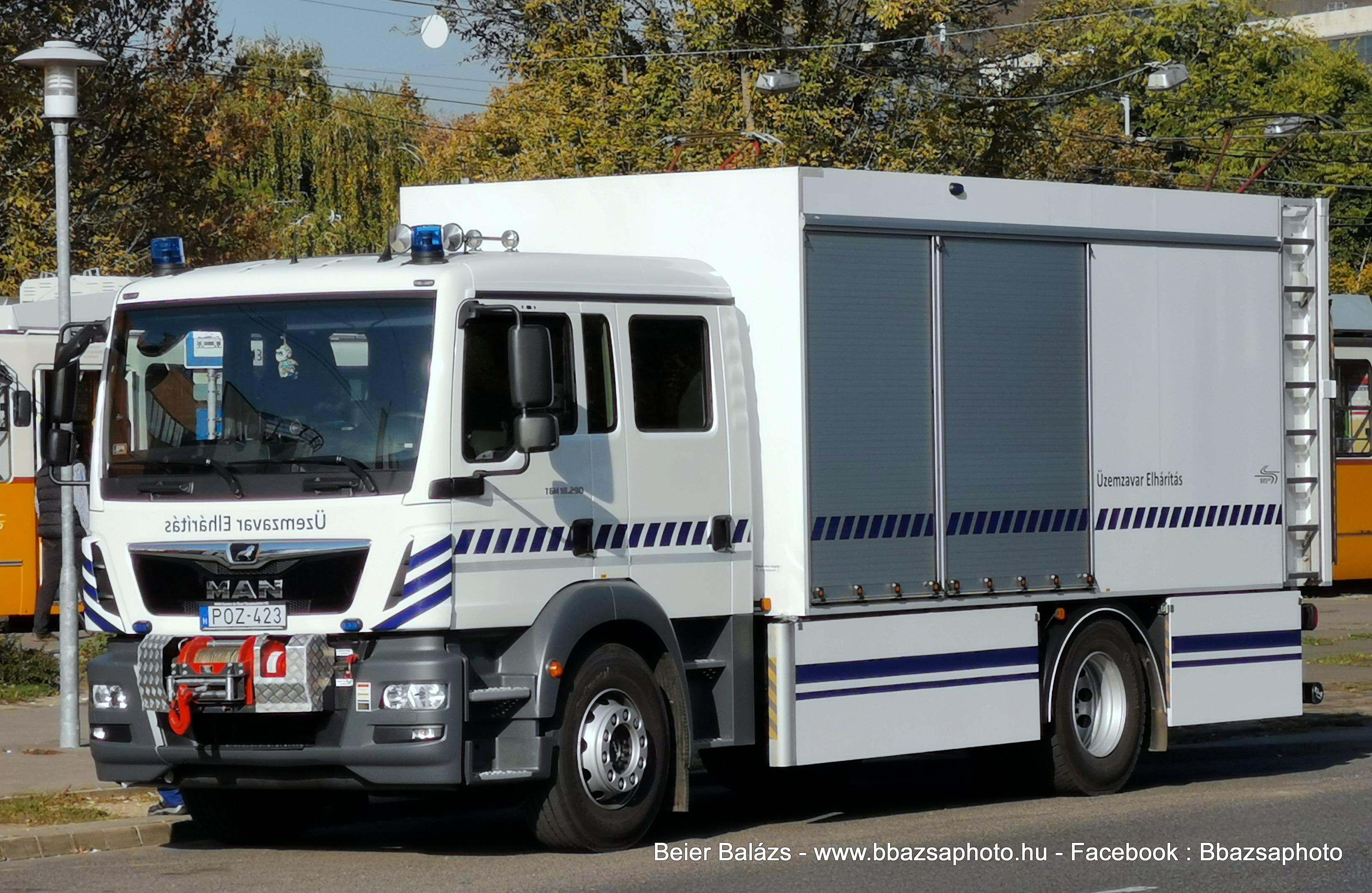 MAN TGM 18.290 – BKV Üzemzavarelhárítás POZ-423