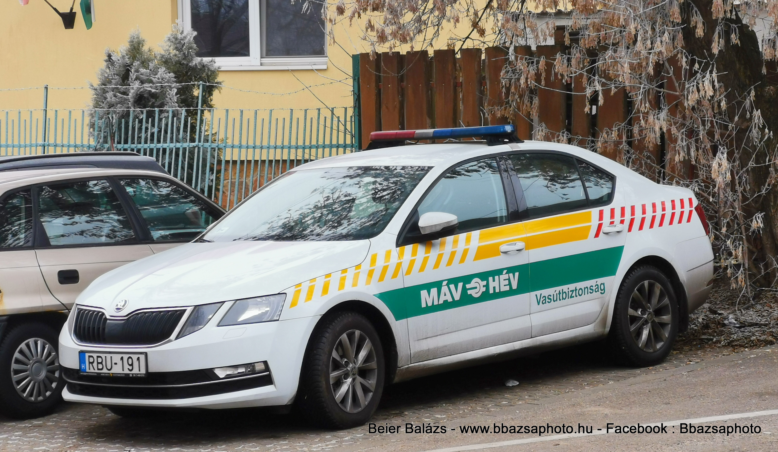 Skoda Octavia III facelift – MÁV – HÉV vasútbiztonság