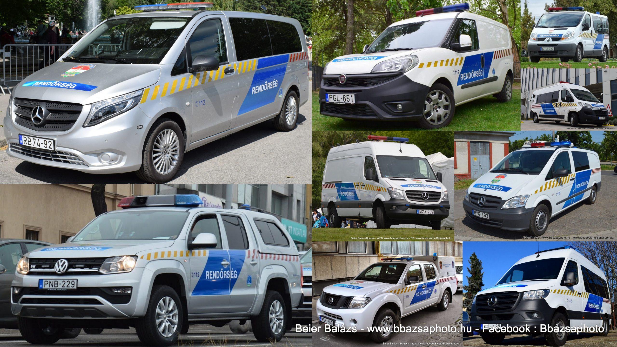 Típus lista – Rendőrség / Haszongépjármű