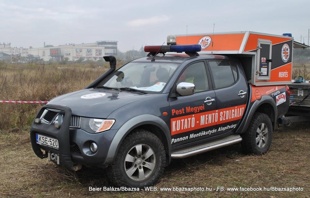Mitsubishik L200 – Pest megyei kutató mentő