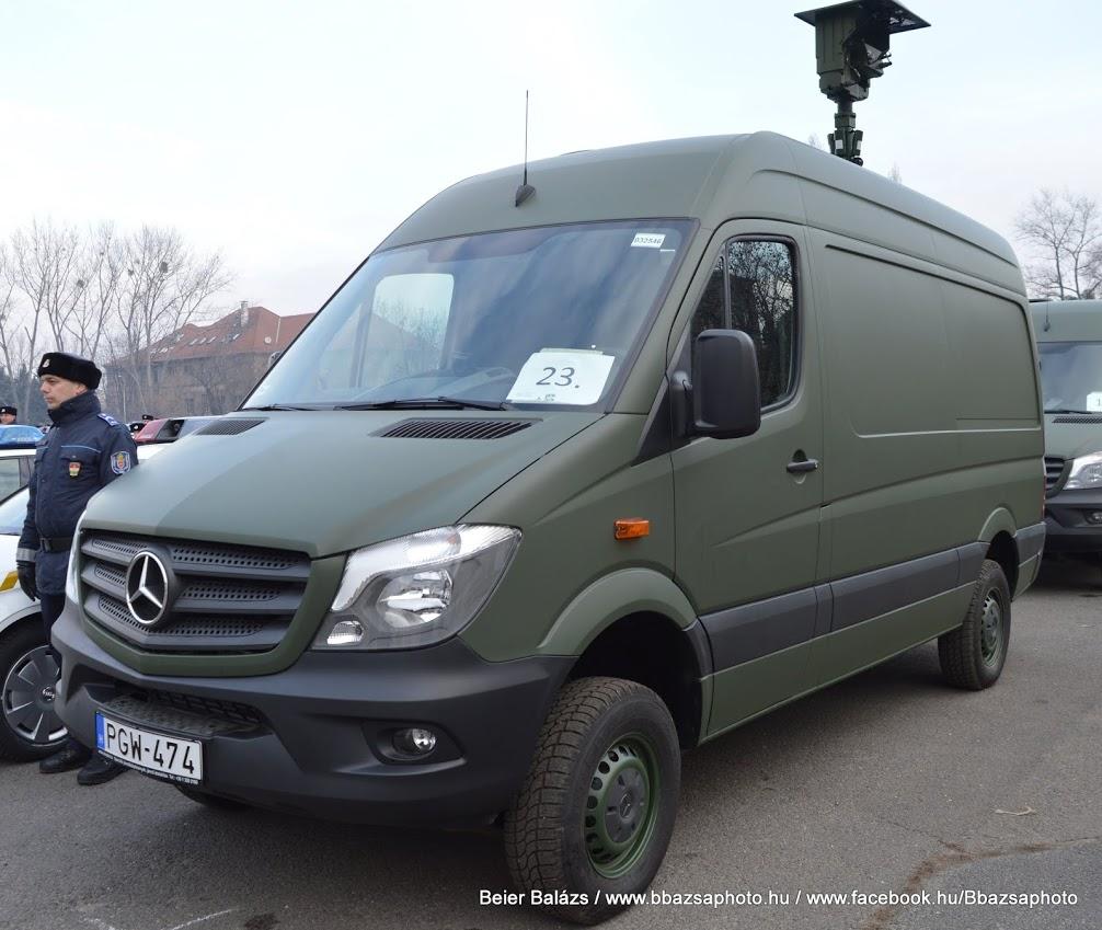 Mercedes Sprinter – Hőkamerás