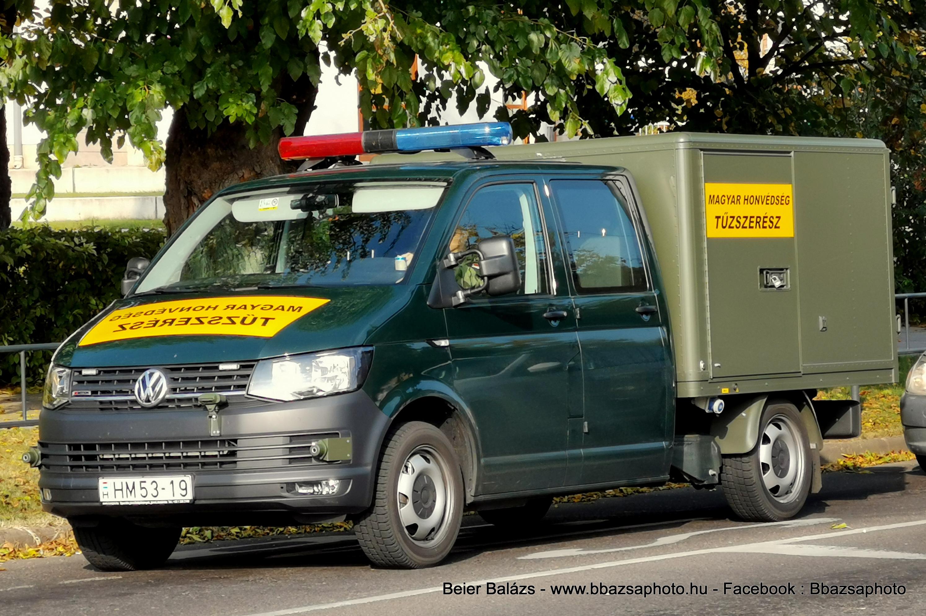 Volkswagen Transporter T6 – Tűzszerész