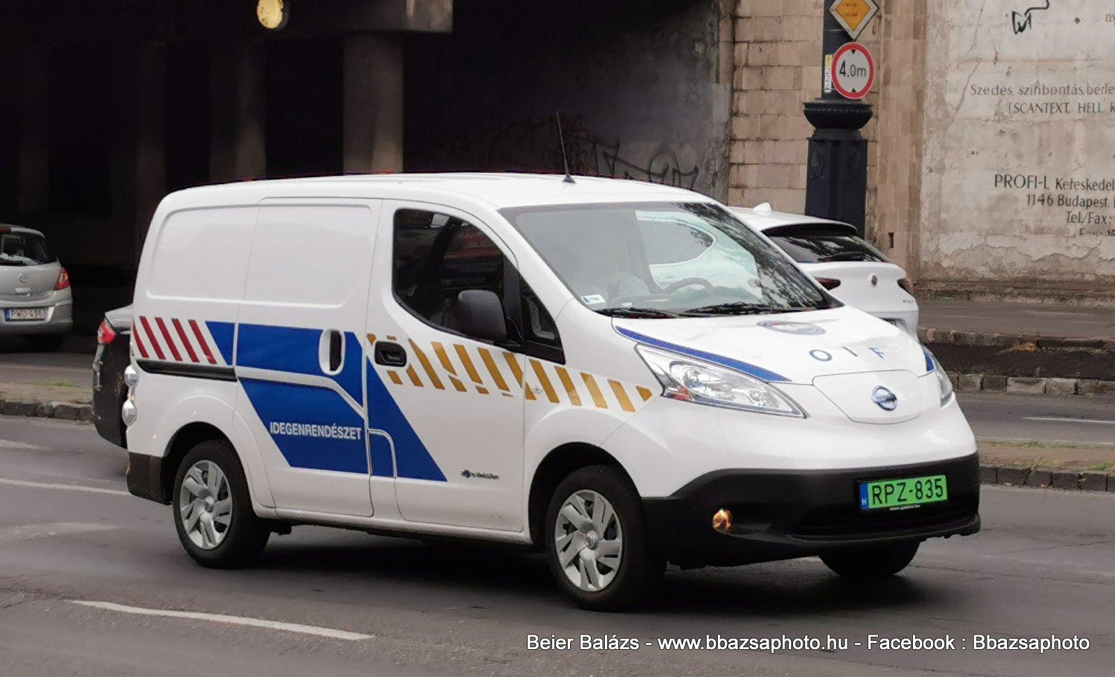 Nissan NV200 – Idegenrendészet
