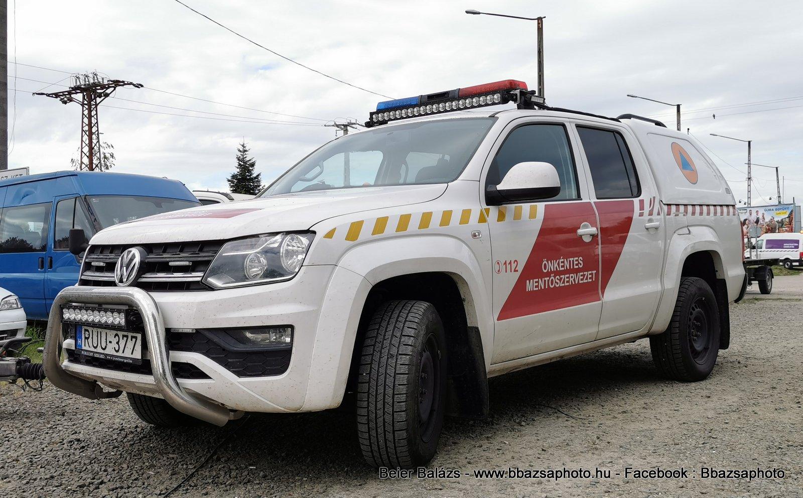 Volkswagen Amarok – Szegedi Vízimentő és Tűzoltó Szakszolgálat
