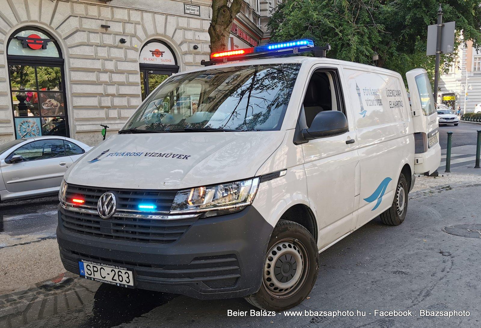 Volkswagen Transporter T6 led – Fővárosi Vízművek