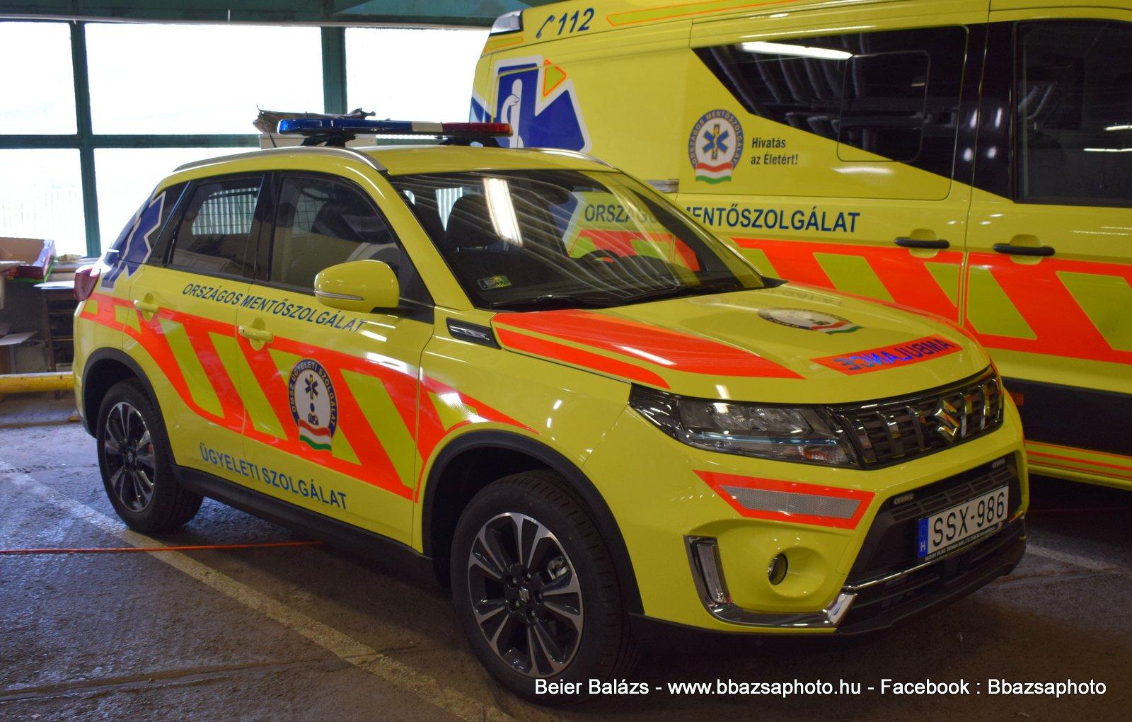 Suzuki Vitara Hybrid – OMSZ ügyeleti szolgálat